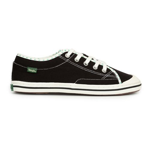 Womens Simple Satire Casual Shoe - Black/Green 10