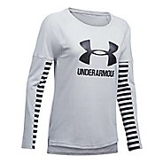 Womens Under Armour Favorite Sportstyle Long Sleeve Technical Tops
