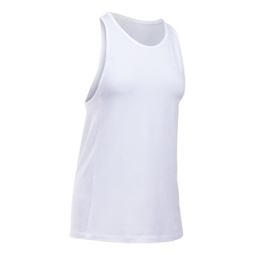 Womens Under Armour Favorite Sleeveless & Tank Tops Technical Tops - White XL