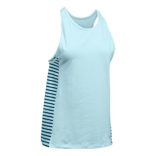 Womens Under Armour Favorite Sleeveless & Tank Tops Technical Tops - Skylight/Navy M