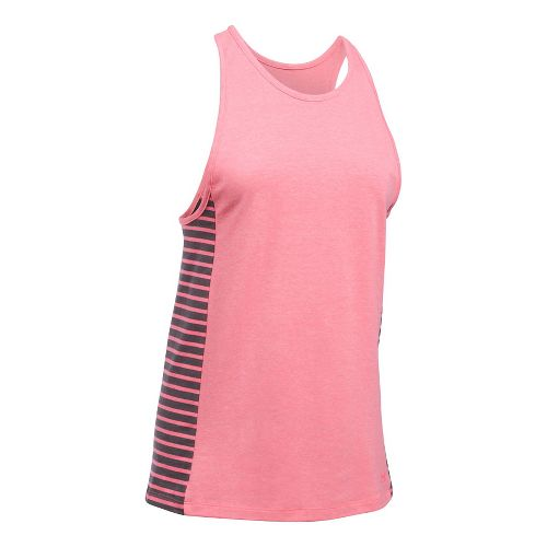 Womens Under Armour Favorite Sleeveless & Tank Tops Technical Tops - Perfection/Carbon S