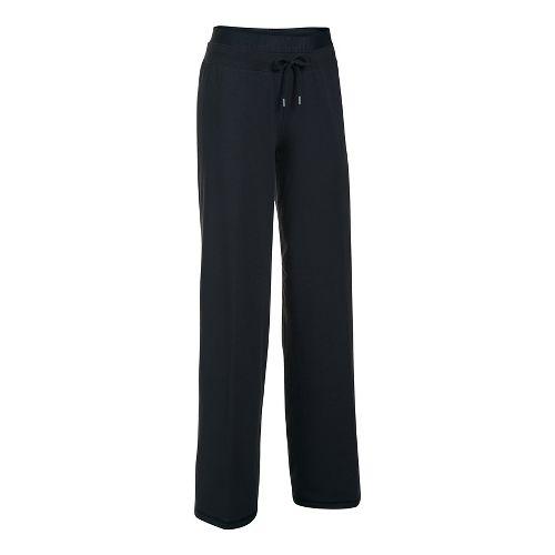 Womens Under Armour Favorite Wide Leg Pants - Black/Black L