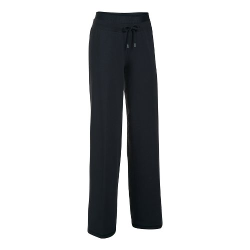 Womens Under Armour Favorite Wide Leg Pants - Black/Black M
