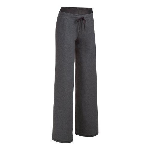 Womens Under Armour Favorite Wide Leg Pants - Carbon Heather S
