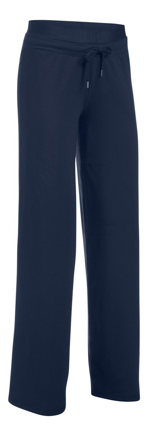 Womens Under Armour Favorite Wide Leg Pants - Midnight Navy S