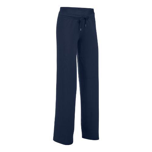 Womens Under Armour Favorite Wide Leg Pants - Midnight Navy L