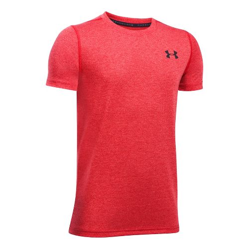 Under Armour Boys Threadborne Tee Short Sleeve Technical Tops - Red YXL