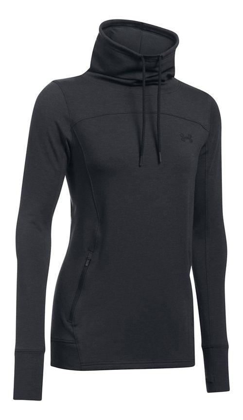 Womens Under Armour Featherweight Fleece Slouchy Pullover Half-Zips & Hoodies Technical Tops - ...