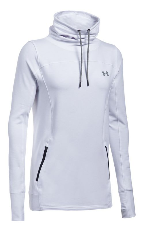 Womens Under Armour Featherweight Fleece Slouchy Pullover Half-Zips & Hoodies Technical Tops - ...