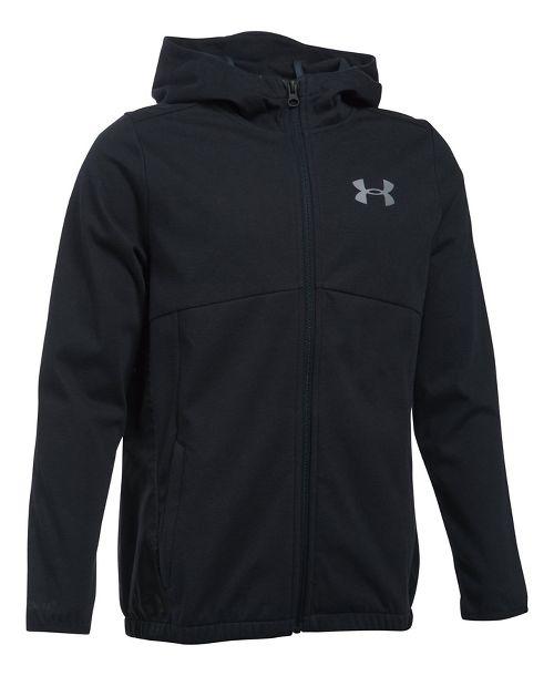 Under Armour Boys Spring Swacket Running Jackets - Black YL