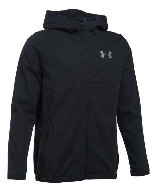 Under Armour Boys Spring Swacket Running Jackets - Black YS