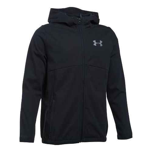 Under Armour Boys Spring Swacket Running Jackets - Black YM