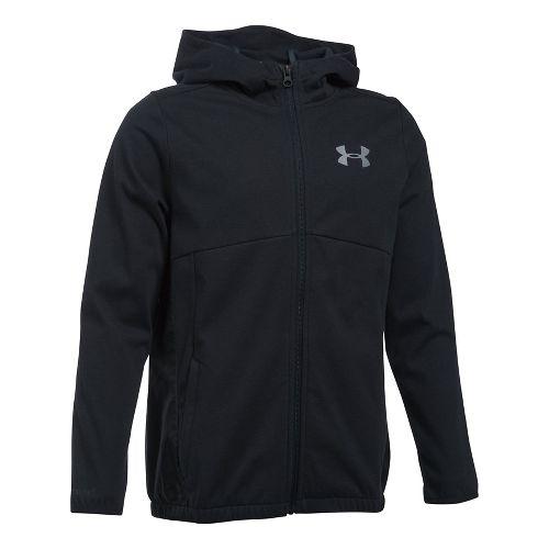 Under Armour Boys Spring Swacket Running Jackets - Black YS