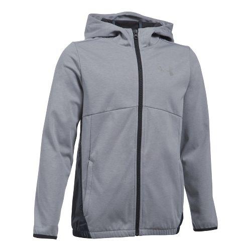 Under Armour Boys Spring Swacket Running Jackets - True Grey Heather YM