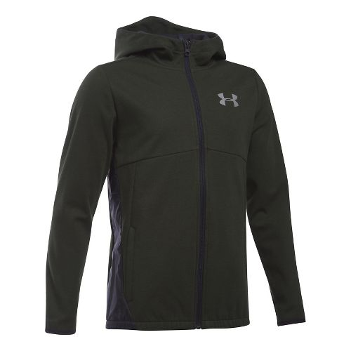 Under Armour Boys Spring Swacket Running Jackets - Artillery Green YL