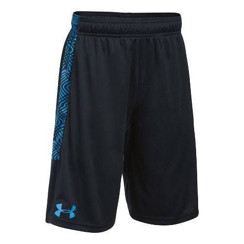 Under Armour Boys Stunt Printed Unlined Shorts - Black/Water YL