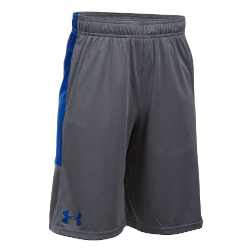 Under Armour Boys Stunt Unlined Shorts - Graphite/Royal YL