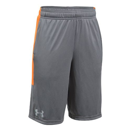 Under Armour Boys Stunt Unlined Shorts - Graphite/Radiate YL