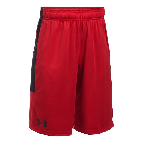 Under Armour Stunt Unlined Shorts - Red/Black YXL