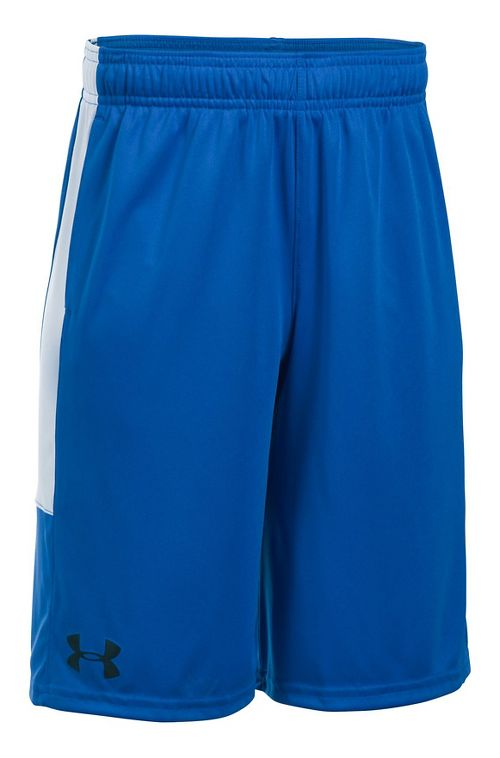 Under Armour Boys Stunt Unlined Shorts - Ultra Blue/White YL