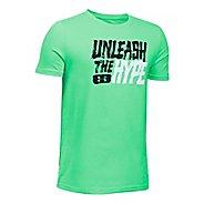 Under Armour Boys Unleashed Tee Short Sleeve Technical Tops - Vapor Green YL