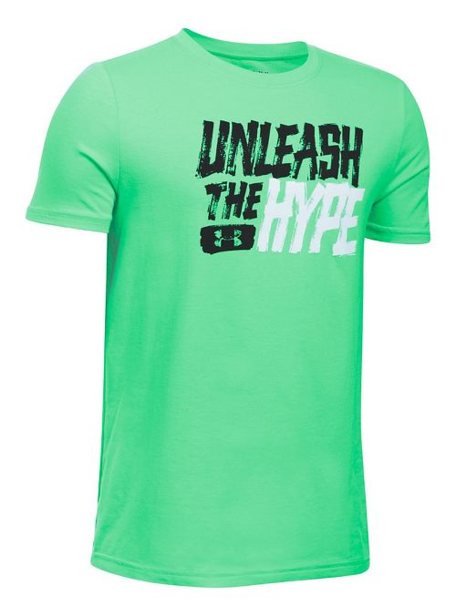 Under Armour Boys Unleashed Tee Short Sleeve Technical Tops - Vapor Green YXL