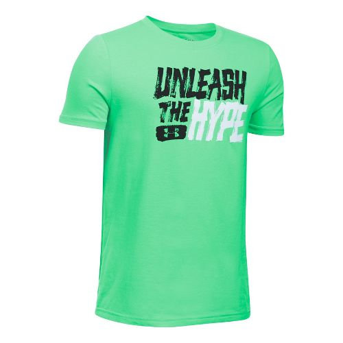 Under Armour Boys Unleashed Tee Short Sleeve Technical Tops - Vapor Green YM