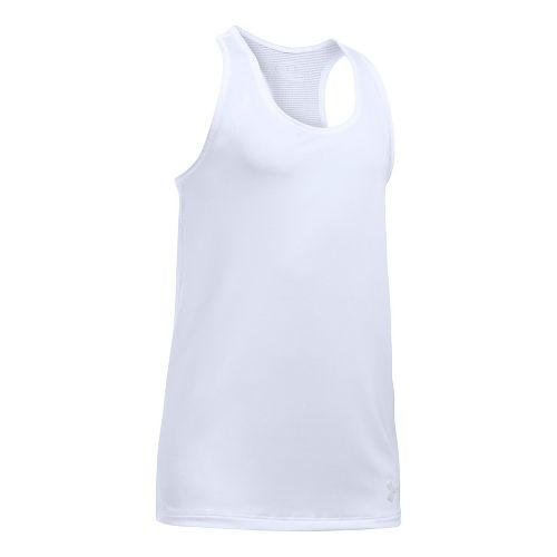 Under Armour Girls Armour Sleeveless & Tank Tops Technical Tops - White YM