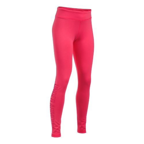 Under Armour Girls Favorite Knit Graphic Tights & Leggings Pants - Gala YXL