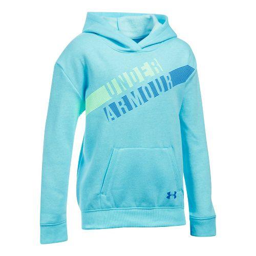 Under Armour Girls Favorite Fleece Half-Zips & Hoodies Technical Tops - Blue Light Heather YXL ...