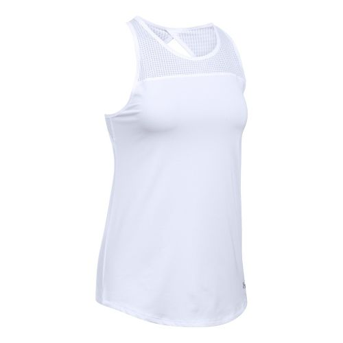 Womens Under Armour Fly By Fitted Sleeveless & Tank Tops Technical Tops - White M