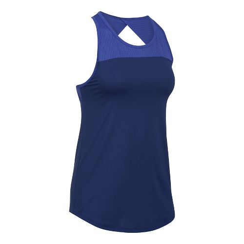 Womens Under Armour Fly By Fitted Sleeveless & Tank Tops Technical Tops - Europa Purple S