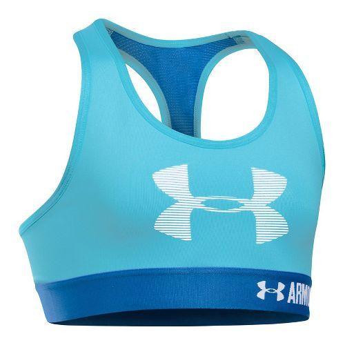 Under Armour Girls Graphic Armour Sports Bras - Blue/Mediterranean YL