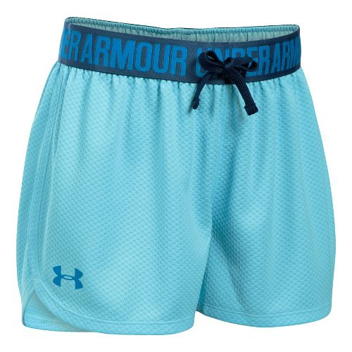 Under Armour Girls Mesh Play Up Unlined Shorts - Opal Blue YM