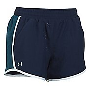Womens Under Armour Fly By Perforated Unlined Shorts - Midnight Navy S