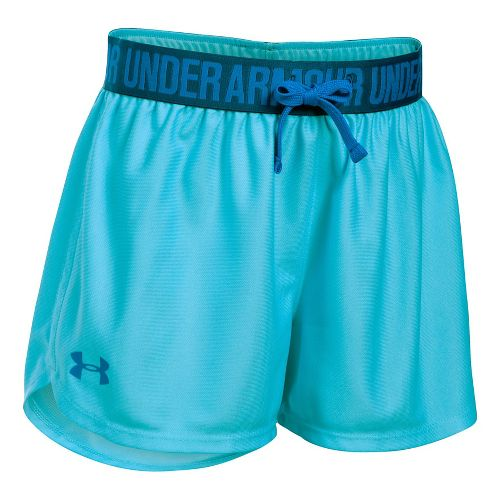Under Armour Girls Play Up Unlined Shorts - Venetian Blue/Navy YL