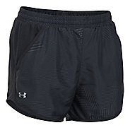 Womens Under Armour Fly By Printed Unlined Shorts - Black/Black S