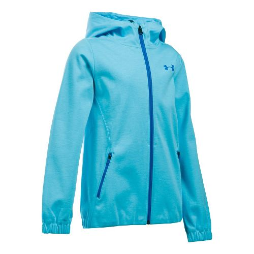 Under Armour Girls Spring Swacket Running Jackets - Venetian Blue YXL