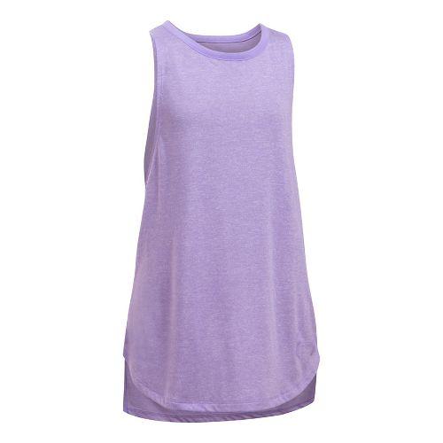 Under Armour Girls Threadborne Play Up Sleeveless & Tank Tops Shorts - Steel/Absinthe YL
