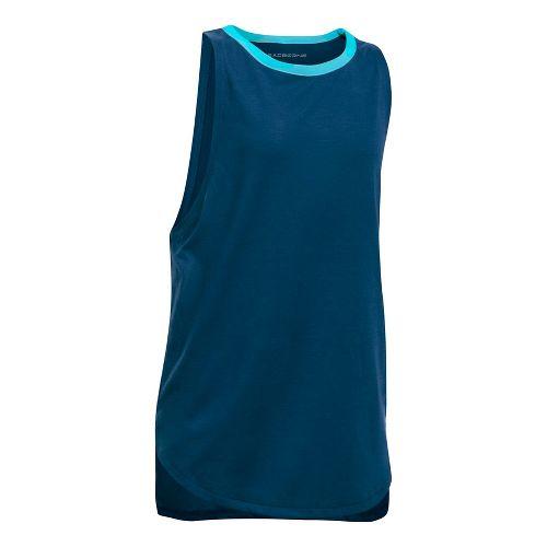 Under Armour Threadborne Play Up Sleeveless & Tank Tops Shorts - Blackout Navy/Blue YL