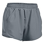 Womens Under Armour Fly By Unlined Shorts - Steel XL