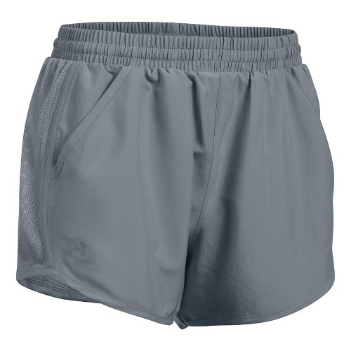 Womens Under Armour Fly By Unlined Shorts - Steel M