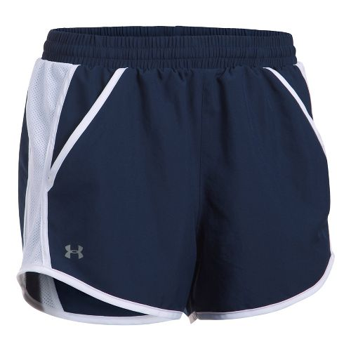 Womens Under Armour Fly By Unlined Shorts - Navy/White S