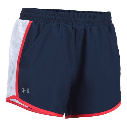 Womens Under Armour Fly By Unlined Shorts - Steel XXS