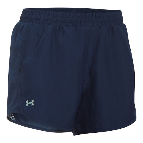 Womens Under Armour Fly By Unlined Shorts - Midnight Navy/Navy XL