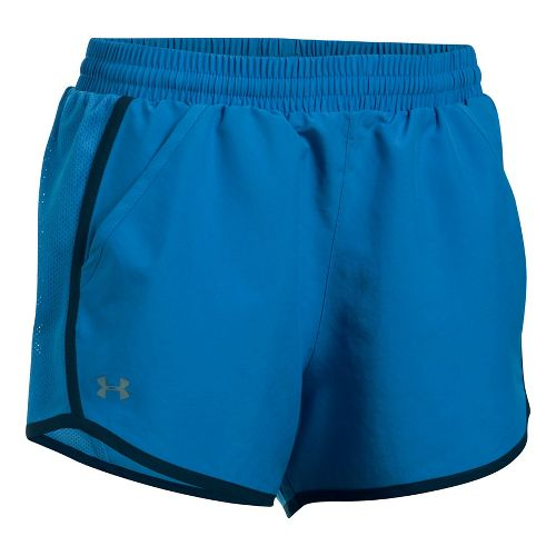 Womens Under Armour Fly By Unlined Shorts - Mediterranean M