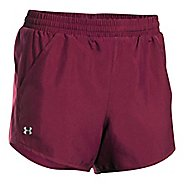 Womens Under Armour Fly By Unlined Shorts - Black Currant XL