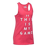 Under Armour Girls Game On Sleeveless & Tank Tops Technical Tops - Gala YL