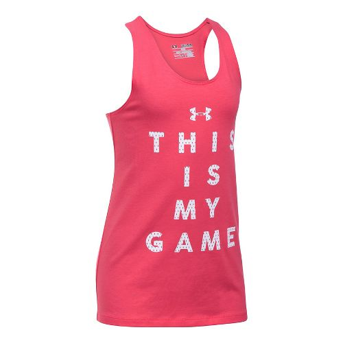 Under Armour Girls Game On Sleeveless & Tank Tops Technical Tops - Gala YS
