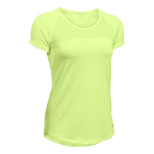 Womens Under Armour Fly By Tee Short Sleeve Technical Tops - Pale Moonlight L